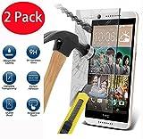 2 Pack - HTC Desire 626 Verre Trempé, Vitre Protection Film de Protecteur d'écran Glass Film Tempered Glass Screen Protector pour HTC Desire 626