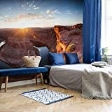 Fototapete Colombo - Das Horsebound am Colorado River Natur Landschaft Fluss Berg Gestein Rocky Mountain Arizona Grand Canyon Sonne Wall-Art 288x260cm