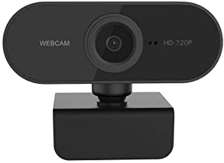 no logo MiMoo 1080p HD Webcam, Built-in Micro, Drive-Free USB2.0 Clip-on Computer Video Dedicated Webcam, PC Laptop Auto F...