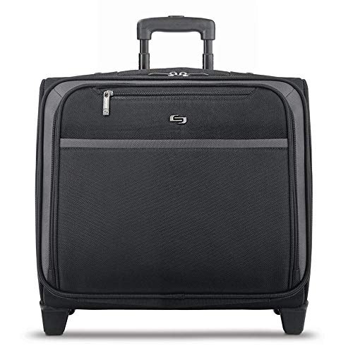Solo New York Dakota Rolling Overnight Laptop Bag, Black