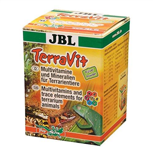 JBL TerraVit Pulver 71029 Ergänzungsfutter für Terrarientiere, Vitamine und Spurenelemente, 100 ml