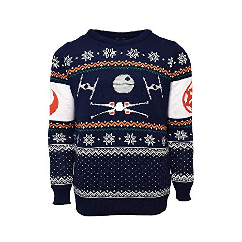 Official Star Wars X-Wing Vs Tie Fighter Ugly Christmas Sweater for Men...