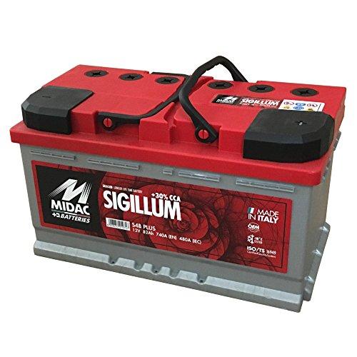 MIDAC SIGILLUM Starterbatterie S4B Plus 12V 82AH Doppeldeckel EINZELZELLEN-Labyrinth Batterie