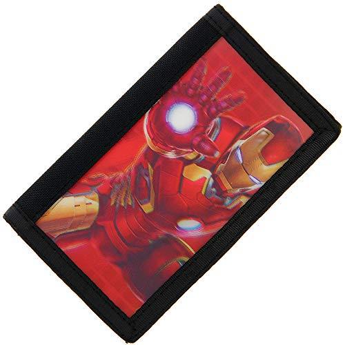 Marvel Avengers Age of Ultron - Cartera con velcro en 3D Diseño de Iron Man talla única