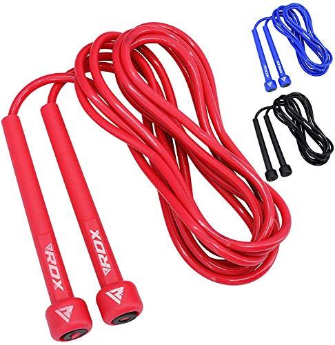 RDX Springseil Einstellbar PVC Sprunggeschwindigkeit MMA Boxen Verlieren Gymnastik Fitness Gymnastik Fitness Springen Metallseil Trainingsübungstraining (MEHRWEG)