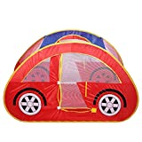 Pop up Spielzelt, Auto Spielzelt Spielhaus Spielzeug Rot, Zelt für Kinder Spielzeug, Babyzelt...