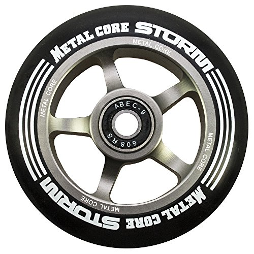 Metal Core Storm Ruedas Scooter, Negro/Titanio, Talla Única