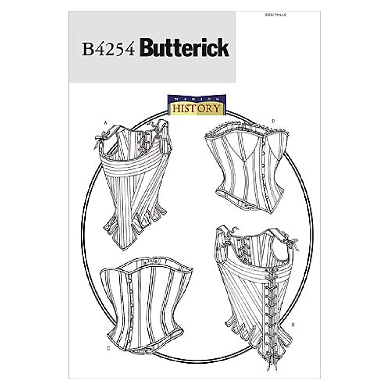 BUTTERICK PATTERNS B4254 Misses' Stays and Corsets, Size 18-20-22