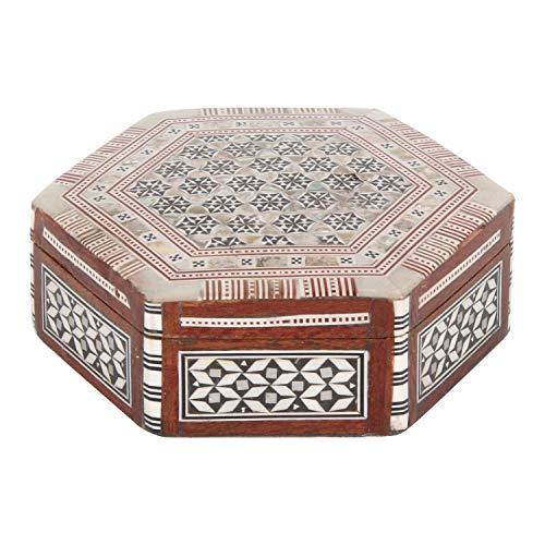 Casa Moro Orientalische Schmuckdose Mirbat mit echten Perlmutt Inlays | Kunsthandwerk Handmade Schmuk-Schatulle | Originelle Geschenk-Idee für die Dame Muttertag | sd7