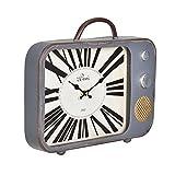 en.casa Reloj de Pared Decorativo televisor - con Pantalla a