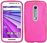 S Line TPU–Carcasa para Motorola Moto G De 3ª generación funda de silicona en rosa @ Energmix