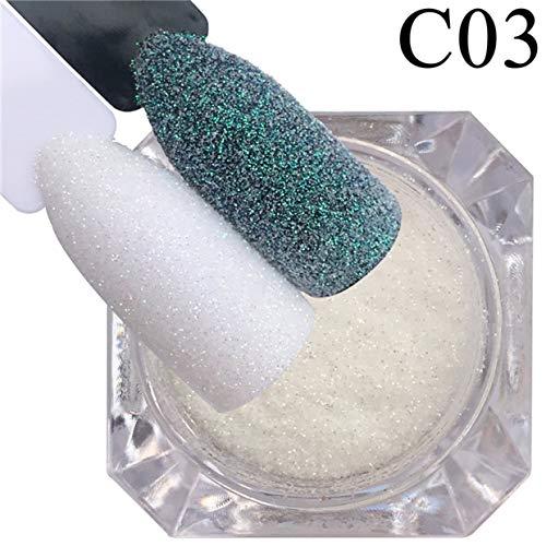 MXECO 1 caja de brillo de uñas polvo de caramelo de azúcar brillo bricolaje decoraciones de arte de uñas polvo holográfico uñas escamas
