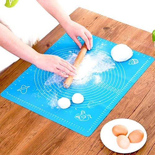 Tapis de cuisson en silicone pour rouleau à pâtisserie avec mesures, Liner Set de table Table de résistance à la chaleur Pad Planche à pâtisserie réutilisable, silicone anti-adhésif pour Housewife