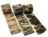 Outdoor Saxx® Cinta de camuflaje de tela impermeable multiusos para cámaras de caza, fotógrafos de pesca, 4,5 m, juego de 3