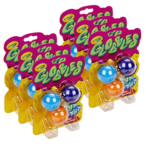 Crayola Globbles Squish Toys, Assorted Colors, 3 Per Pack, 6 Packs