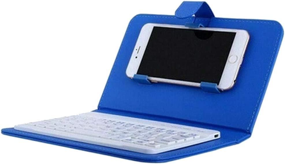 Keyboard for ipad,Wireless Keyboard-Leather,Mini Portable Wireless Bluetooth Keyboard with Leather Case for Smartphone