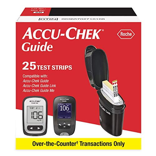 Accu-Chek Guide Glucose Test Strips, Diabetic Supplies (Pack of 25)