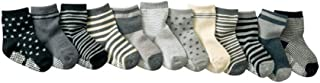 GHBOTTOM, Calcetines de bebé, 12 Pares/Lote 100% Algodón de los Niños Calcetines de Bebé de Goma Antideslizante Calcetines de Piso de dibujos animados Niños Calcetines