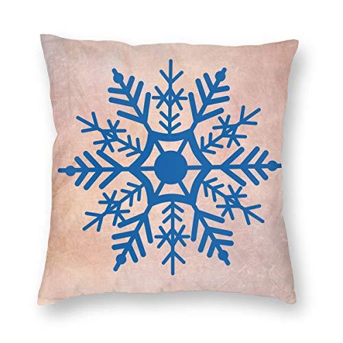 Big Snowflakes Christmasplush Fabric Soft and Comfortable Pillowcase (Multi-Size)