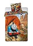 Thomas and Friends TF048 - Juego de cama infantil (140 x 200 cm y 70 x 90 cm)