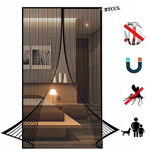 Magnet Fliegengitter Tür Insektenschutz, Magnetischer Fliegenvorhang Moskitonetz Automatisches Schließen Insektenschutz für Balkontür Wohnzimmer Terrassentür Klebemontage ohne Bohren