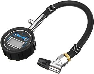 figatia Medidor de pressão de bomba de ar de pneu LCD digital 0-200PSI carro motocicleta