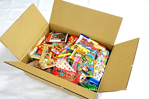 Assorted Japanese Junk Food Snack Dagashi Boxful of 95 Packs of 55 Types by Dagashi