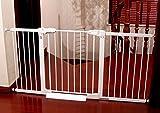 1m Puerta De Seguridad para Bebés Elevada Puerta De Bebé Extensible Puerta De Escalera Retráctil Parte Superior De Las Escaleras Puerta para Bebés Blanco (Tamaño : 97-103cm)