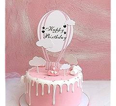 Custom DIY Pastel Hot Air Balloon Basket Kit for Birthday Kids Baby Shower Engagement Anniversary Wedding Party Decorations