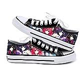 NIEWEI-YI Date A Live Anime Zapatos De Lona Hombres Mujeres Zapatos Casuales Zapatos De Viaje Al Aire Libre,37 EU