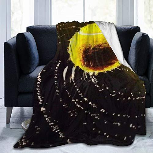 QIUTIANXIU Mantas para Sofás de Franela 150x200cm Diseño de Tema de Pelota de Tenis giratoria Manta para Cama Extra Suave
