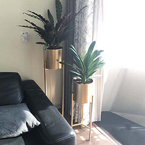 LYQZ Nordic Eisen Blume Ständer Moderne Boden-Stil Goldenen Wohnzimmer Dekoration Blume Rack Haus Pflanze Blumentopf Rahmen Balkon Display Regal (größe : 22 * 22 * 90cm) - 4