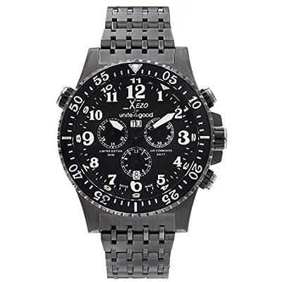 Xezo Air Commando Divers Pilots para Unite4:good - Reloj cronógrafo suizo de hombre en edición limitada de lujo con acabado bronce, 30 ATM y segundo huso horario parcial