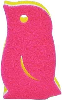 マーナ(MARNA) ペンギンスポンジ ディープピンク キッチンスポンジ K266