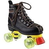 ローラーシューズキッズPUホイールチャイルドレンズクワッドローラースケート、青少年のためのファッションハイトップクワッド roller skates 1125 (Size : 34)