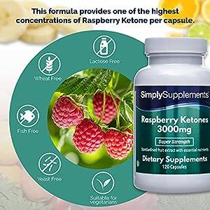 Raspberry Ketones 3000mg 120 Capsules | Vegan & Vegetarian Friendly | Manufactured in The UK