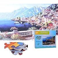 QGGESY 大人、子供、ティーンエイジャー向けの1000ピースのジグソーパズル-人気の教育家族向けおもちゃゲーム,パズル 風景 知育 puzzle(70x50cm)家族向けゲーム用のジグソーセット,color12