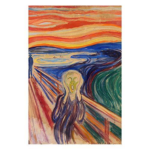 Puzzle s Cuadros Famosos del Mundo   El Grito Rompecabezas 1000 Piezas, Noruega Pintor Edvard Munch, 75,5 x 50,5 cm s
