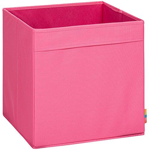 Storanda) Aufbewahrungsbox MIO - Extra Stabile MDF Ausführung - Faltbox - Korb - 33x33x33 cm - (Pink)