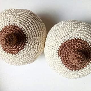 Crochet 1 breast model, Breastfeeding Consultant supply, Demonstration lactation Nursing New Mom Classes Teachers La Leche League