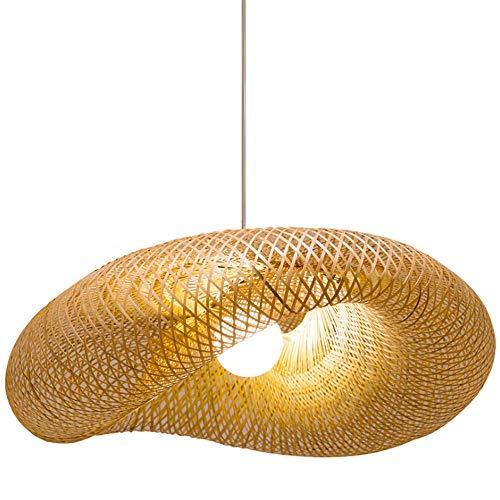 XIAOXY Araña de bambú, Salón de té, Zen lámpara, Nuevo Chino Estilo Homestay lámpara del jardín, Estilo del sudeste asiático, Estilo japonés casa de té, bambú Arte de la lámpara (tamaño : M)