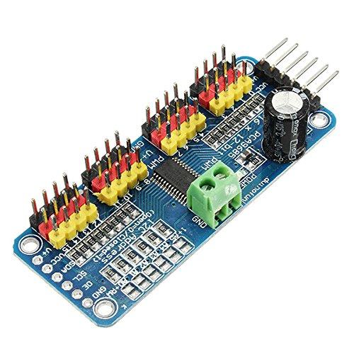 ILS - PCA9685 de 16 Canales de 12 bits de PWM del Motor servo Controlador I2C Módulo para el Robot Arduino