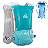 Azarxis Chalecos de hidratación para Correr Mujeres Hombres Carrera Chaleco para Correr Sendero de hidratación Chaleco para Correr Maratón Mochila (Azul Claro - con una vejiga de Agua (1.5 L))