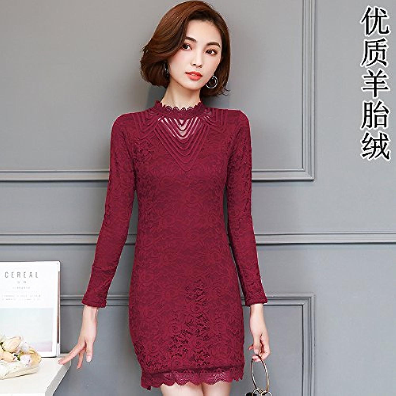 GAOLIM Ladies Plus MidAutumn Plus LongSleeved Padded Shirt Warm Shirt, M Recommended