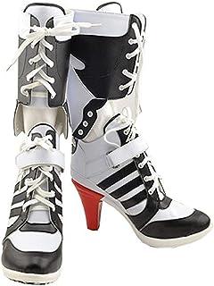 حذاء تشونج شينج نسائي من البولي يوريثين الأبيض لحفلات الهالوين التنكرية 3. 6 بوصات
