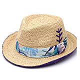 Duarble Sombrero de sol al aire libre sombrero de Sun de la sombrilla del sombrero Lafite sombrero for el sol sombrero de Panamá informal arco bordado Dama Escorpión sombrero de paja (Color: Rojo, Tam