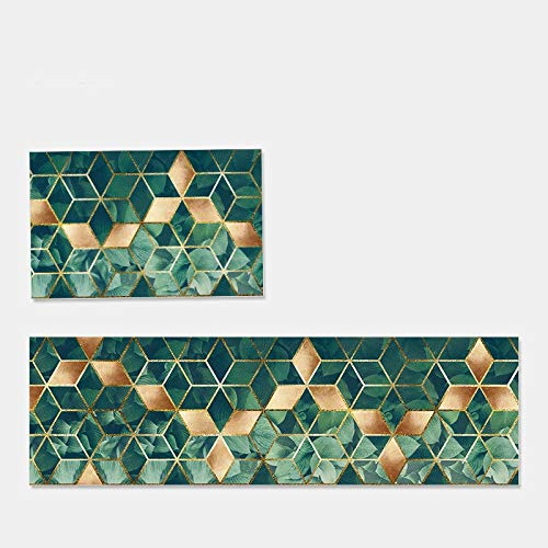 OPLJ Alfombra de Puerta de patrón Simple geométrico Alfombra Rectangular Alfombra Antideslizante Alfombra de Puerta Sala de Estar Alfombra Lavable A10 40x60cm