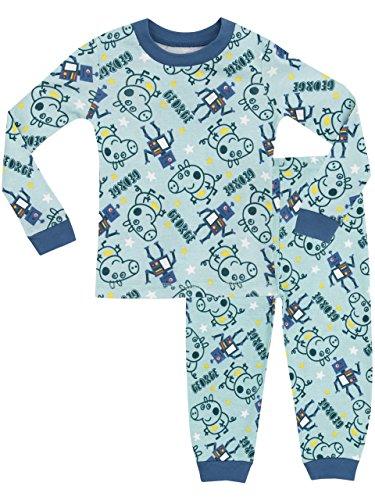 George Pig - Pijama para Niños - George Pig - Ajuste Ceñido - 4-5 Años