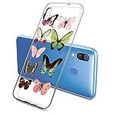 Suhctup Compatible con Samsung Galaxy S9 Funda de Transparente Silicona con Dibujos Mariposa Lindo Diseño Patrón Cárcasa Ultrafina Suave TPU Antigolpes Bumper Protección Caso-A2
