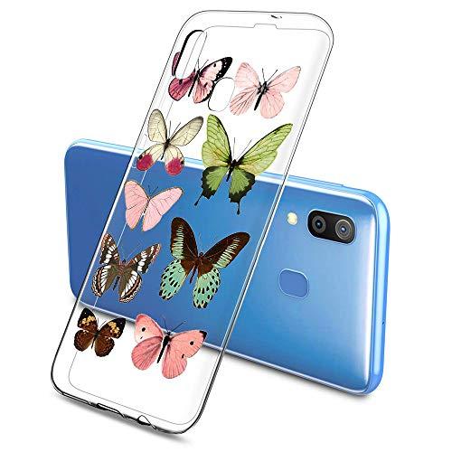 Suhctup Compatible con Samsung Galaxy S7 Edge Funda de Transparente Silicona con Dibujos Mariposa Lindo Diseño Patrón Cárcasa Ultrafina Suave TPU Antigolpes Bumper Protección Caso-A2
